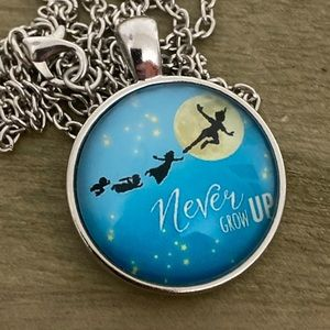 Jewelry - 3/25 Never Grow Up Peter Pan Necklace Blue Yellow